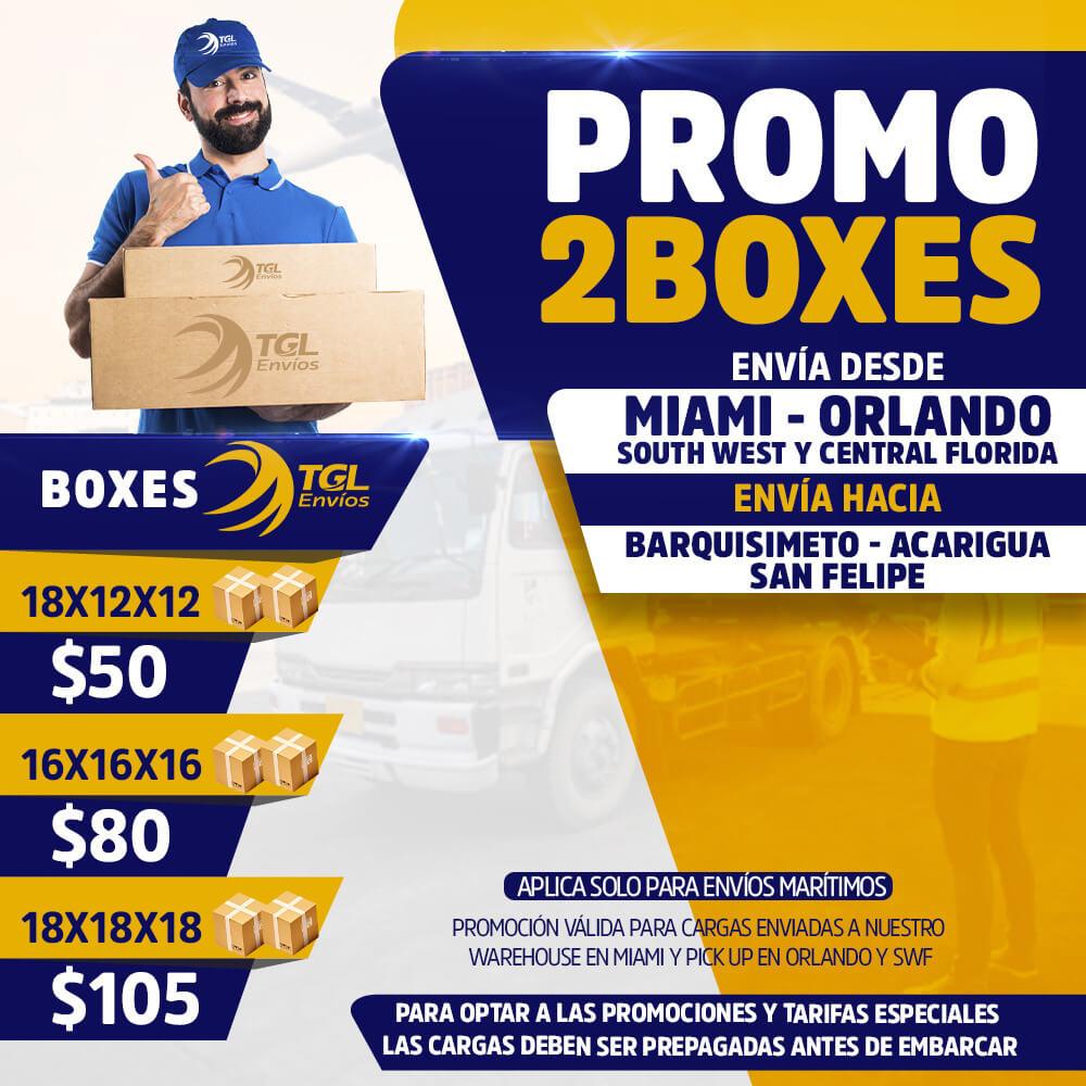 promo2boxes TGL Envios barquisimeto
