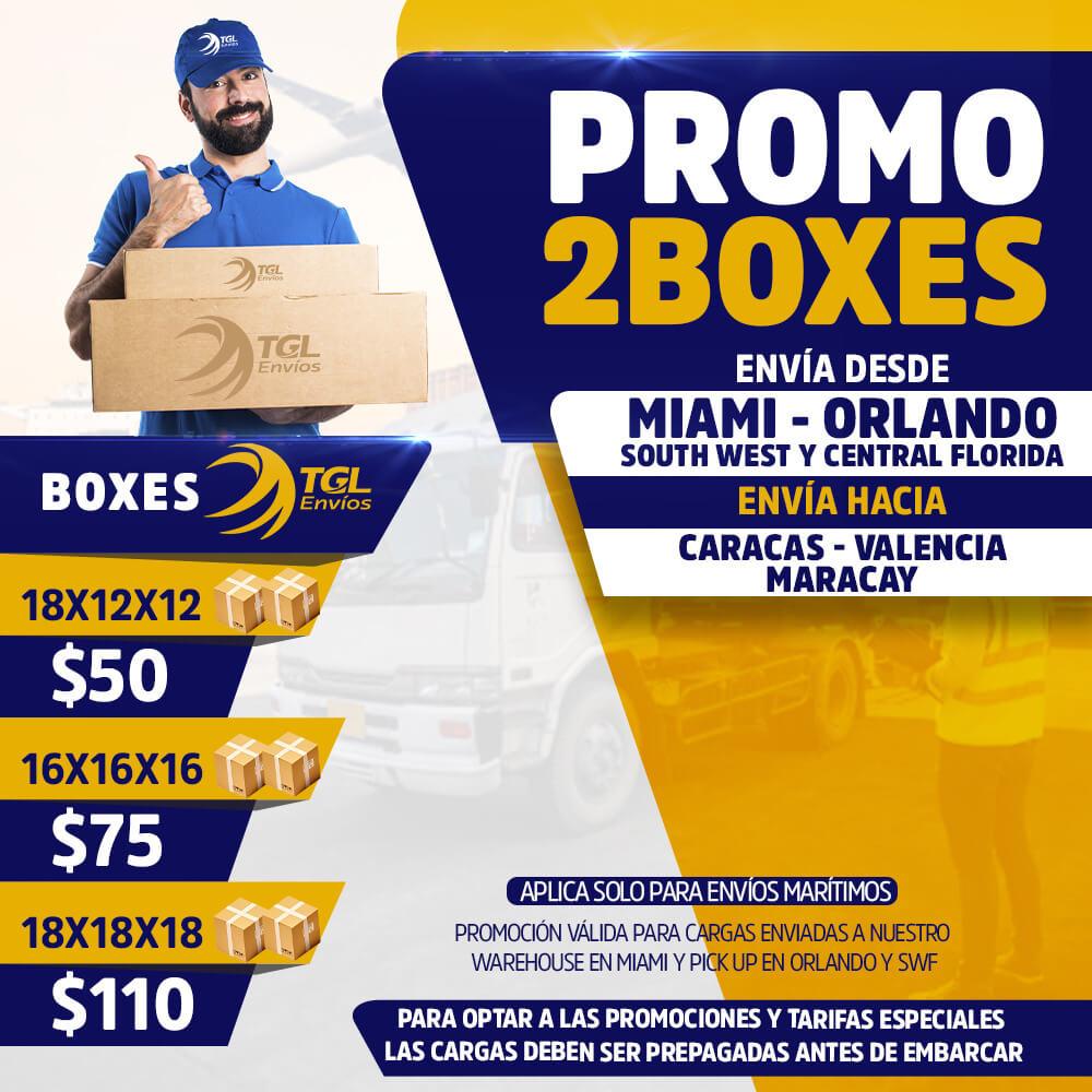 promo2boxes TGL Envios caracas