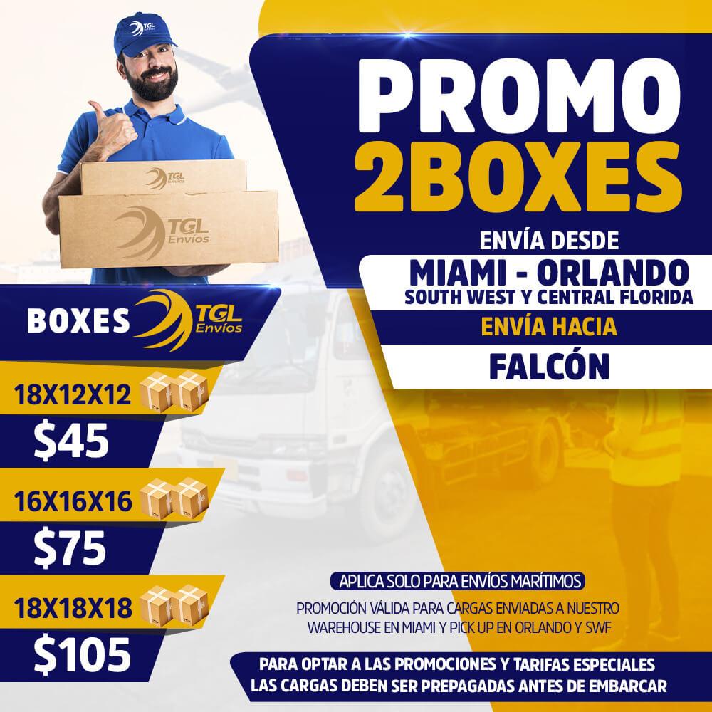 promo2boxes TGL Envios falcon
