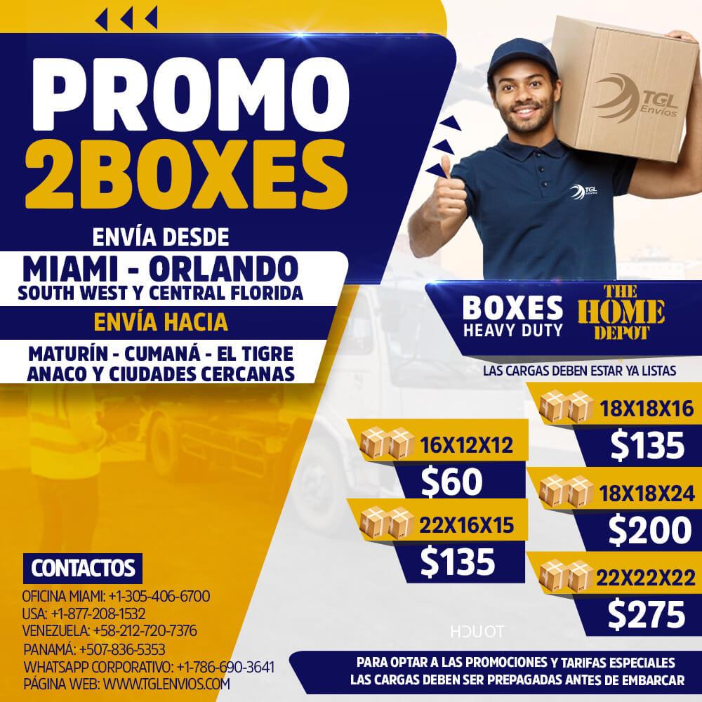 promo2boxes TGL Envios home depot maturin