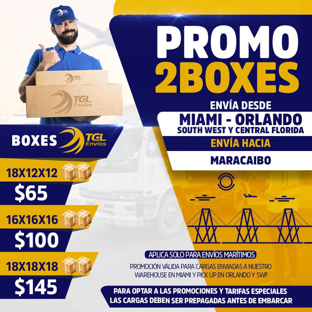 promo2boxes TGL Envios maracaibo