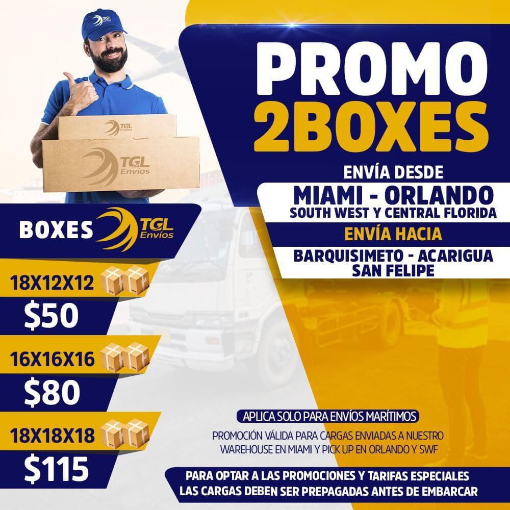 tgl envios promo2boxes maritimo barquisimeto